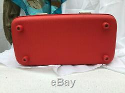 Vintage Red Airway Train Case Luggage, Small Suitcase, Cosmetic Case, Makeup Cas