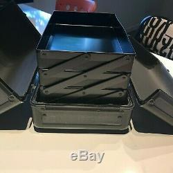 Vintage/Retired Mac Cosmetics Black Pro Train Case, 4 Compartments, EUC