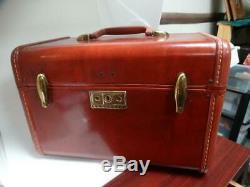 Vintage Retro Samsonite Streamlite Makeup Train Case Luggage Key Lucite Tray Mor