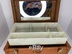 Vintage SHWAYDER Bros SAMSONITE LUGGAGE Train Case Mirror Tray Makeup Carry On