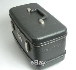 Vintage Samsonite Royal Traveler Train Case Make Up Tray Overnight Blue Keys