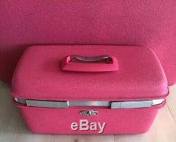 Vintage Samsonite Saturn Pink Royal Train Case Makeup Hard Suitcase Luggage
