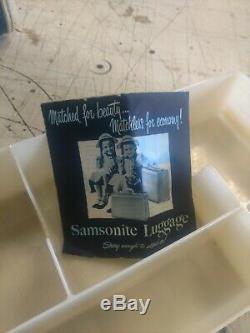 Vintage Samsonite Travel Train Case Shwayder Bros Carry On w Makeup Tray & Key
