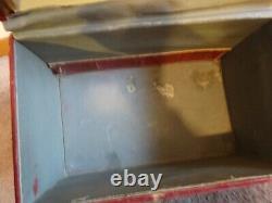Vintage Train Case Storage Box LUGGAGE Makeup Bin Cordovan Red Shabby Cool