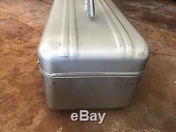Vintage ZERO Halliburton Cosmetic Train Case Silver Aluminum