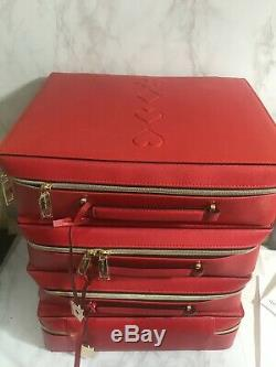 Whole Sale Lot Of 100 Estee Lauder Blockbuster Red Train Case 12.75 X 9.75 X 4in
