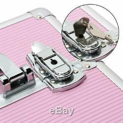 Yaheetech Aluminum 4 In 1 Cosmetic Trolley Rolling Makeup Train Case, 4 Professi