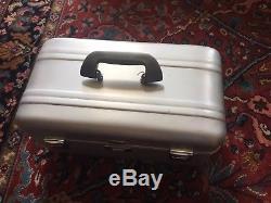 Zero Halliburton Aluminum Luggage Cosmetic Train Case