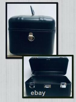 Zero Halliburton Cosmetic Train Case Black 16x9x8 Combination Lock 823005